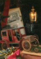 De rode bestelwagen. - The old red delivery van.  One of the tinplate toys from the Twenties.