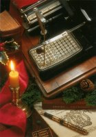 The famous 'writing machine' of Mignon dating from 1897.