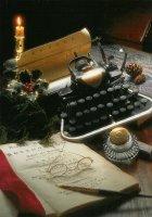 Een 'moderne' schrijfmachine in 1897. - A 'modern' typewriter in 1897.