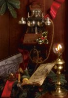 An Ericsson wall telephone and the Dutch telephone directory, both dated 1905.