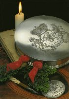 Zilveren waszegeldoos van Koning Willem IV. - Silver sealbox once belonging to King William IV.